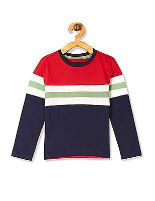 Cherokee Multi Colour Boys Long Sleeve Striped t-Shirt