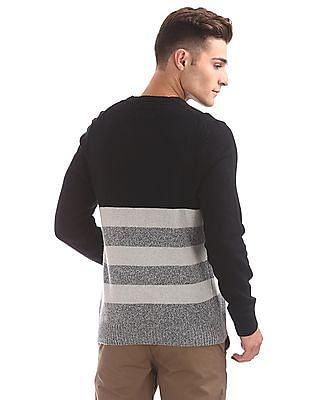 U.S. Polo Assn. Denim Co. Striped Lambswool Sweater
