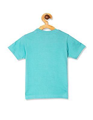 Cherokee Green Boys Printed Crew Neck T-Shirt