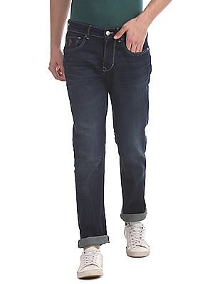 U.S. Polo Assn. Denim Co. Blue Woody Slim Straight Fit Whiskered Jeans