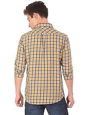 Aeropostale Button Down Gingham Shirt