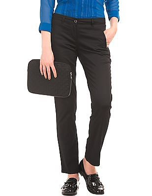 Arrow Woman Cotton Stretch Slim Fit Trousers