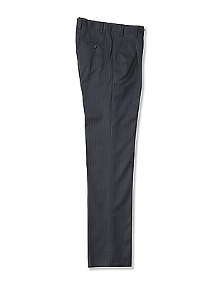 Arrow Slim Fit Striped Trousers
