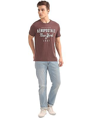 Aeropostale Round Neck Printed Front T-Shirt