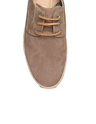 Johnston & Murphy Perforated Leather Derby Shoes