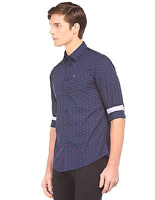 Arrow Sports Geometric Printed Slim Fit Shirt