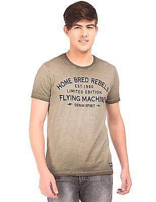 Flying Machine Washed Printed T-Shirt
