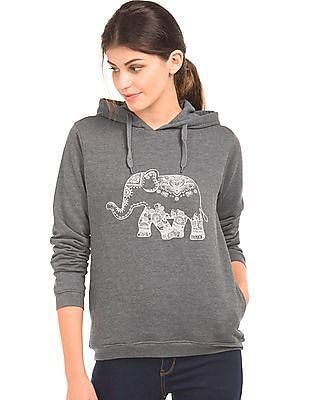Cherokee Printed Hooded Sweatshirt