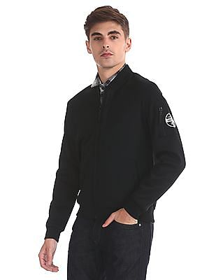 Flying Machine Solid bomber Jacket