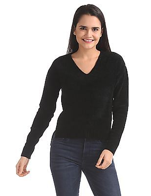 Aeropostale Washed Out V-Neck Sweater