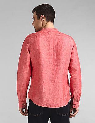 GAP Linen Band Collar Shirt