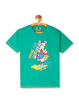 Day 2 Day Boys Crew Neck Archie Graphic T-Shirt