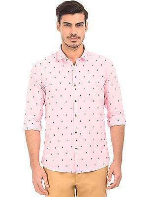 Roots by Ruggers Contrast Pattern Oxford Shirt
