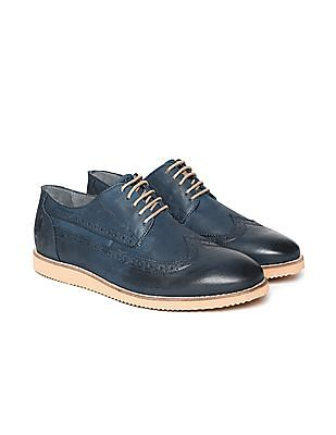 U.S. Polo Assn. Wingtip Leather Brogues