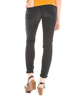 U.S. Polo Assn. Women Low Rise Enzyme Wash Jeggings