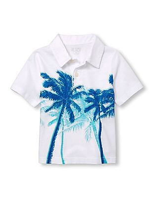 The Children's Place Baby Short Sleeve Graphic Polo Shirt