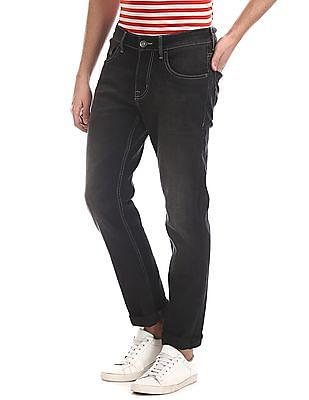 Cherokee Black Slim Fit Stone Wash Jeans