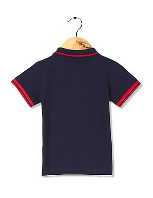 Donuts Boys Tipped Pique Polo Shirt