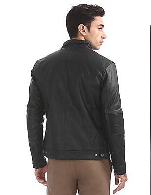 Ed Hardy Panelled Biker Jacket