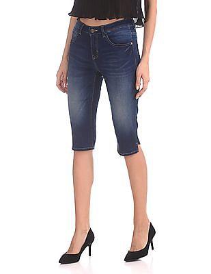 U.S. Polo Assn. Women Mid Rise Capri Jeans