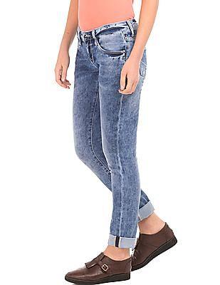 U.S. Polo Assn. Women Low Rise Skinny Fit Jeans