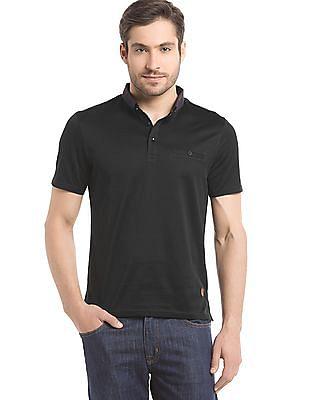 True Blue Regular Fit Button Down Polo Shirt