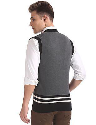 U.S. Polo Assn. Standard Fit Colour Blocked Cardigan