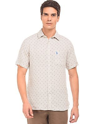 U.S. Polo Assn. Printed Linen Shirt