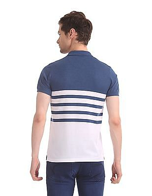 Ruggers White And Blue Striped Polo Shirt