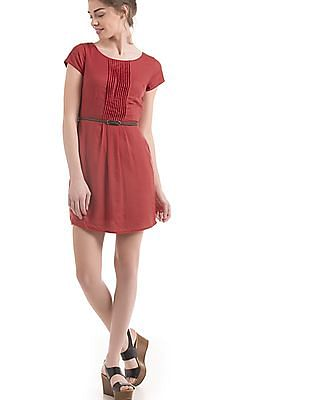 Arrow Woman Tucked Front Belted Dress