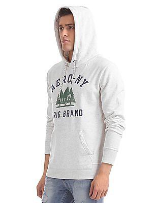 Aeropostale Brand Print Heathered Sweatshirt