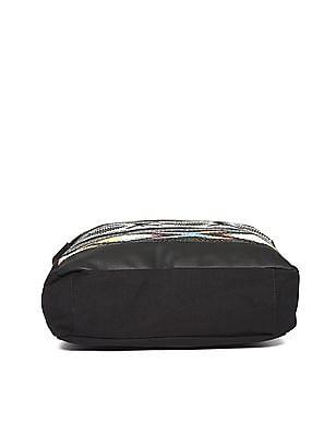 SUGR Pattern Weave Tasselled Tote Bag