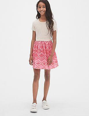 GAP Girls Mix-Fabric T-Shirt Dress