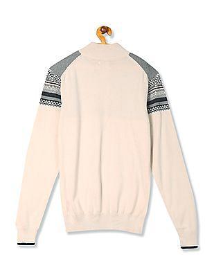 Izod High Neck Patterned Sweater