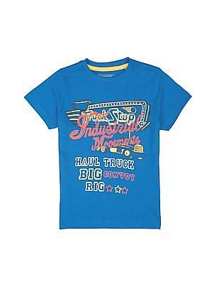 Cherokee Boys Graphic Print Crew Neck T-Shirt