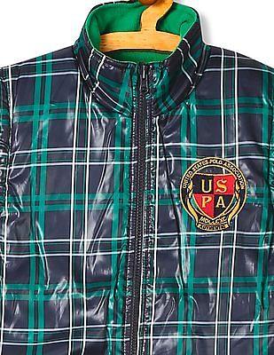 U.S. Polo Assn. Kids Boys Sleeveless Reversible Jacket