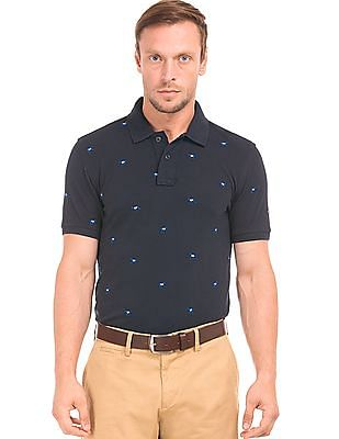 efbc0993 Buy Men Embroidered Pique Polo Shirt online at NNNOW.com