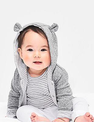 GAP Baby Grey Favorite Reversible Bear Hoodie