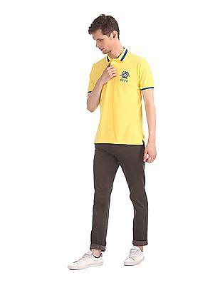 U.S. Polo Assn. Yellow Solid Pique Polo Shirt