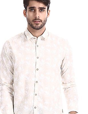 Flying Machine Regular Fit Floral Print Shirt