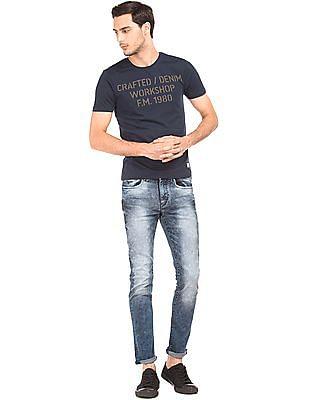 Flying Machine Acid Washed Skinny Fit Jeans