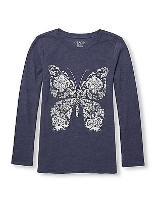 The Children's Place Girls Round Neck Printed T-Shirt