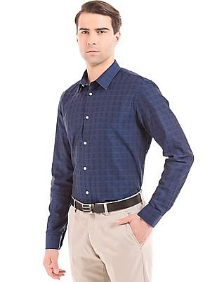 Arrow Newyork Slim Fit Self Check Shirt
