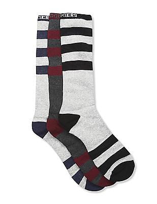 Ruggers Assorted Striped Mid Calf Socks - Pack Of 3