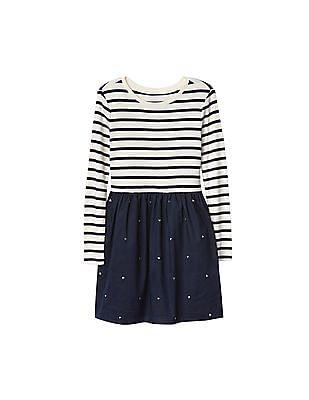 GAP Girls Striped Mix Fabric Dress