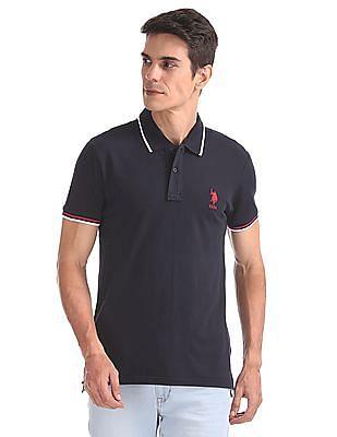 U.S. Polo Assn. Solid Lycra Polo Shirt