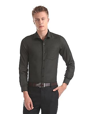 Excalibur Super Slim Fit Patterned Weave Shirt