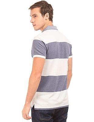 Gant Regular Fit Striped Polo Shirt