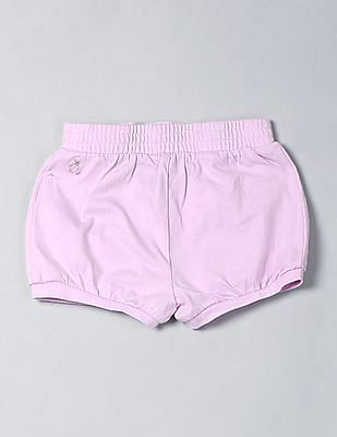 GAP Toddler Girl Purple Jersey Bubble Shorts