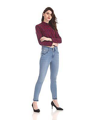 Flying Machine Women Twiggy Super Skinny Fit Tuck In Jeans